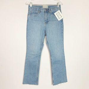 Everlane Jeans - Everlane | hi rise kick crop jeans raw hem size 28